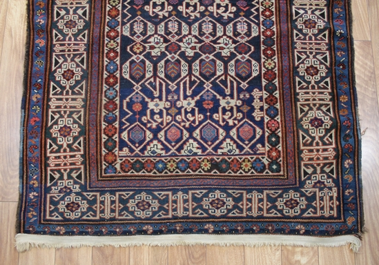 antique early 19thc hand woven geometric wool area rug clean nr ebay. Black Bedroom Furniture Sets. Home Design Ideas