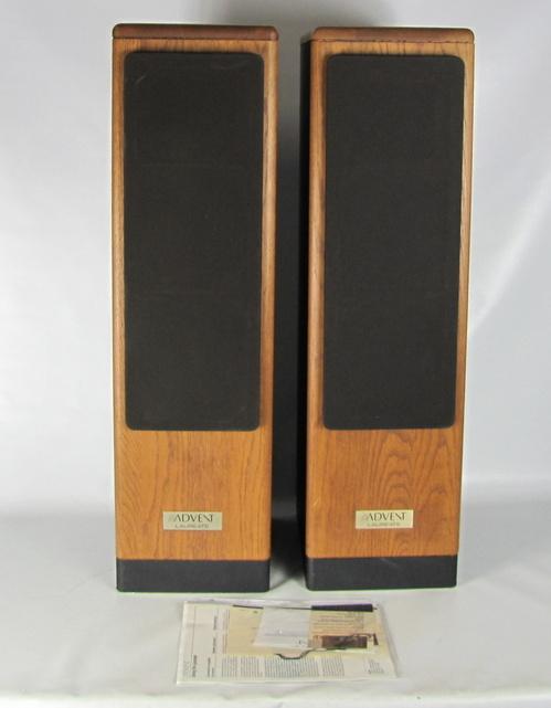 vintage pair of advent laureate floor standing wood. Black Bedroom Furniture Sets. Home Design Ideas