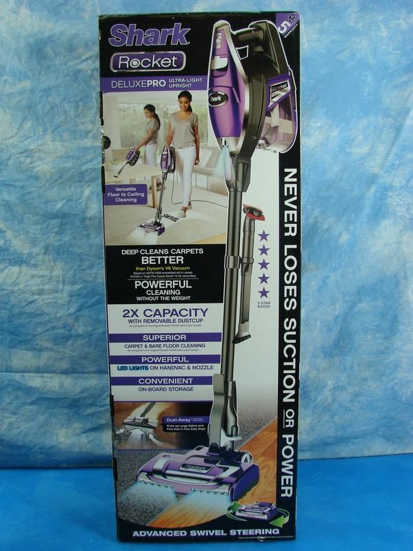 New Shark Rocket Deluxepro Ultra Light Upright Vacuum Led