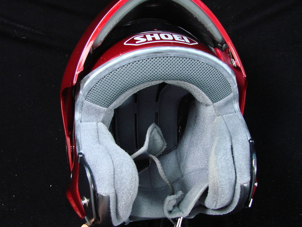 shoei multitec modular helmet model cx 1v med dot red w bag ebay. Black Bedroom Furniture Sets. Home Design Ideas