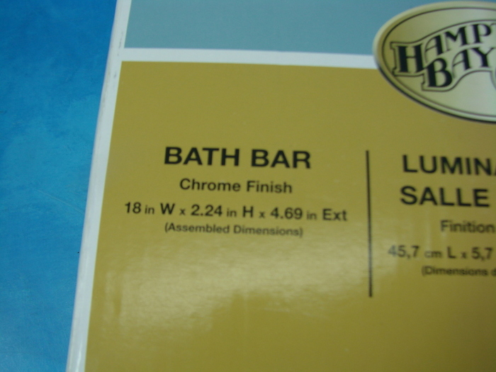 Hampton Bay Bath Bar Bathroom LIghting Set Chrome Finish Lot of Two ...