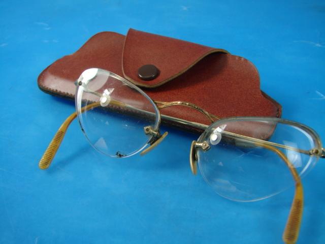Vintage 12K Oro Lleno Gf para mujer marco antiguo ojo de vidrio | eBay