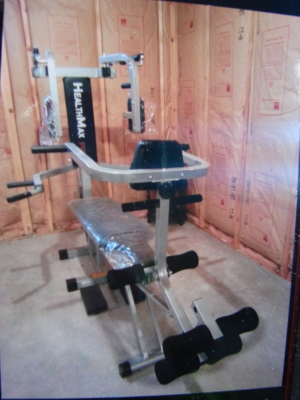 New Healthmax Pro Weight Bench Press Set Home Workout Gym