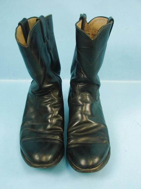 0016b1ee6e1 Details about Justin Men's Black Kipskin Jackson Roper Cowboy Boots #3133  Size 9