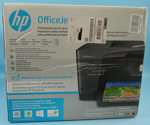 Details about HP Officejet Pro 8710 All-in-one Printer Fax Wireless Scan  Copy #M9L66A Bundle