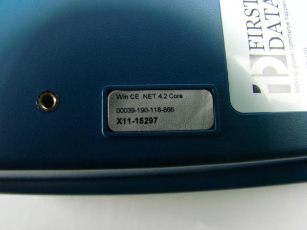 First Data fd100 Credit Card Machine manual