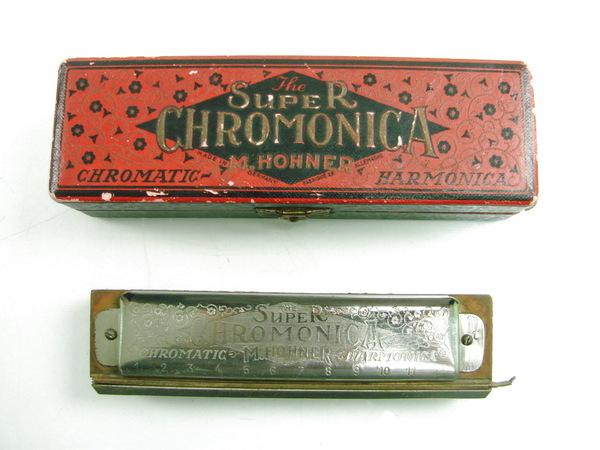 vintage super chromonica m hohner chromatic harmonica key of c with case ebay. Black Bedroom Furniture Sets. Home Design Ideas