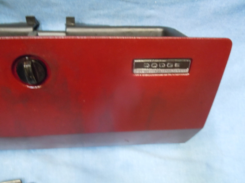 88-90 Dodge Ram PickupTruck Ramcharger Reconditioned Red Glove Box Door Assembly