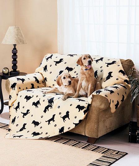 Giant Oversize 6 Fleece Pet Dog Throw Blanket Paw Prints