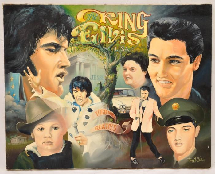 Tom NollElvis Presley print of original art by tom noll  |1977 Elvis Painting