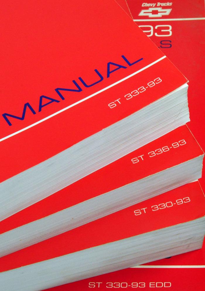 Gm 1993 Chevy Truck Service Manual P Models Unit Repair