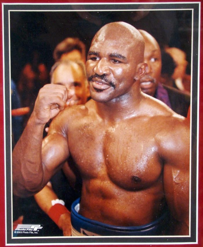 Mike Tyson Evander Holyfield Signed Boxing Gloves