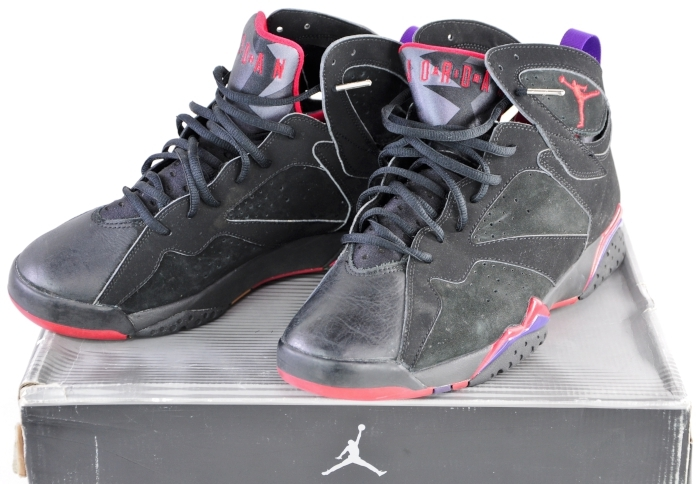 ... 304775 006 Nike Air Jordan 7 Retro Raptor Black Charcoal Red Sz 11  Original Box ... 7a33def3e