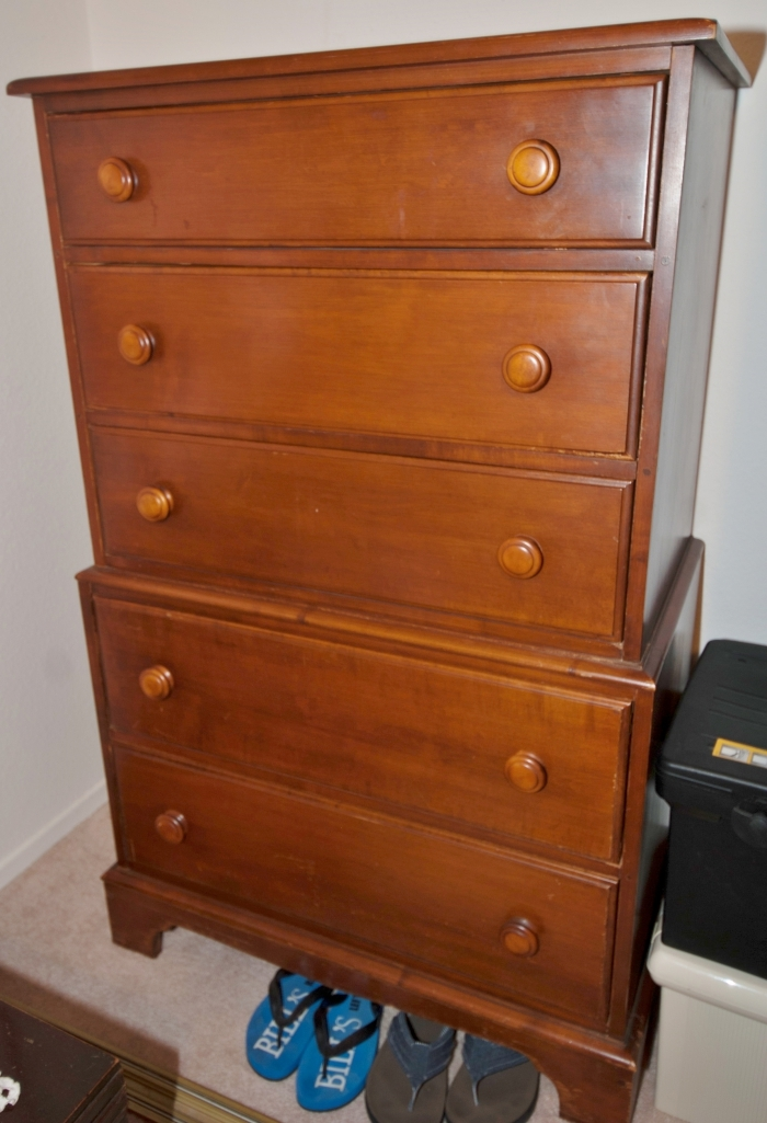 Lovely Vermont Hard Rock Maple Bedroom Suite Twin Bed Dresser Highboy Record Table