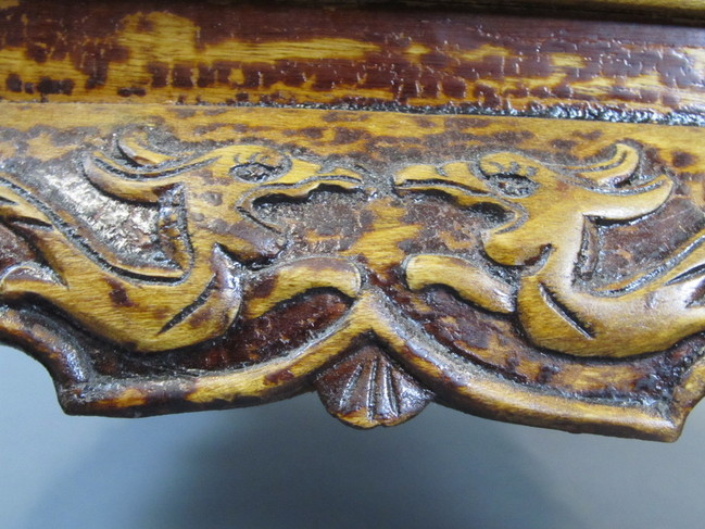 Antique Gothic English Baroque Hand Carved Claw Foot Stool