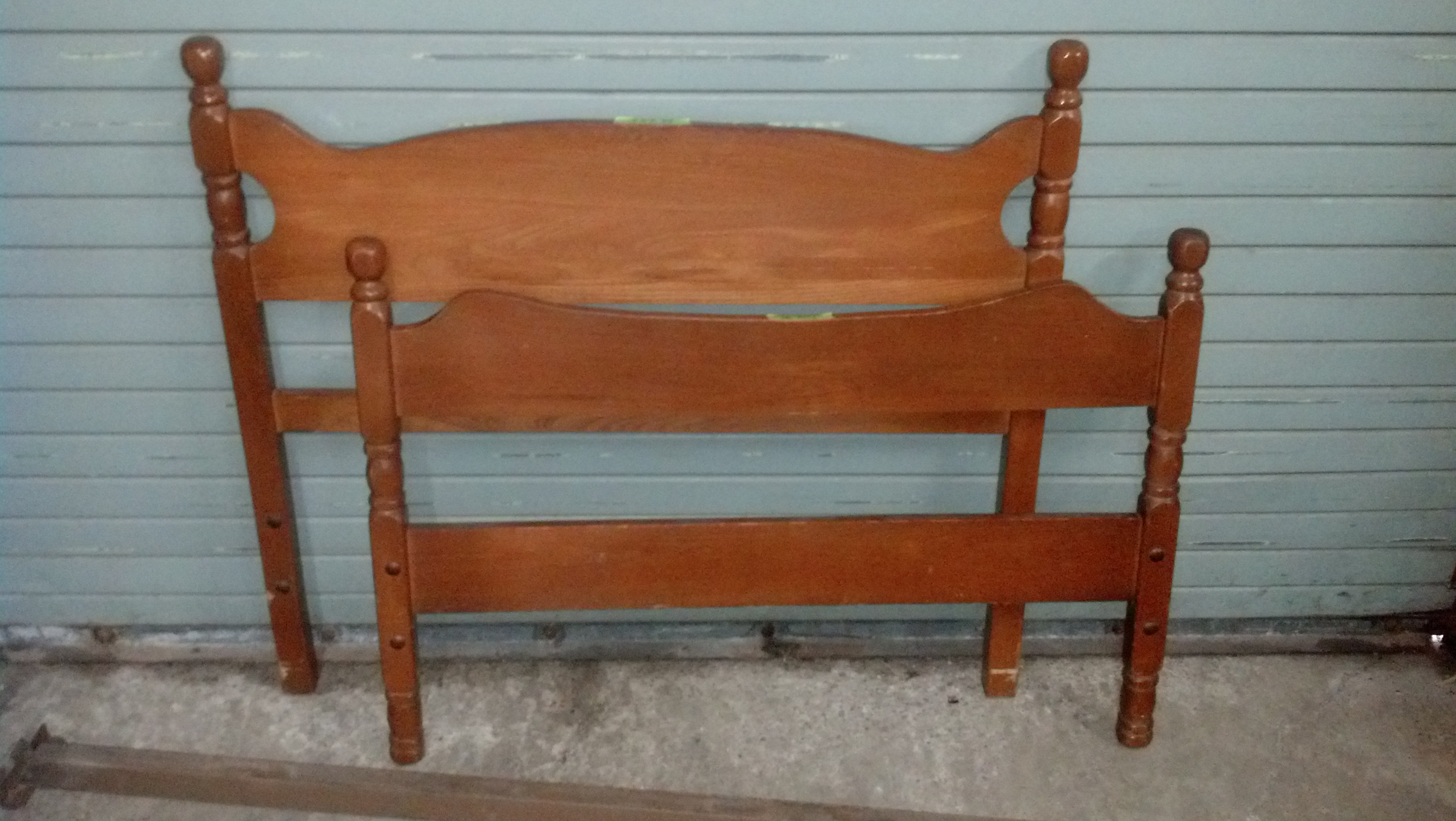 Twin Headboard and Footboard - Wood