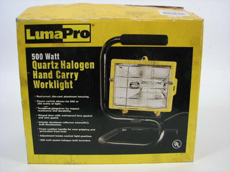GRAINGER LUMAPRO 4VM72 QUARTZ HALOGEN HAND CARRY WORKLIGHT 500W *NOS*