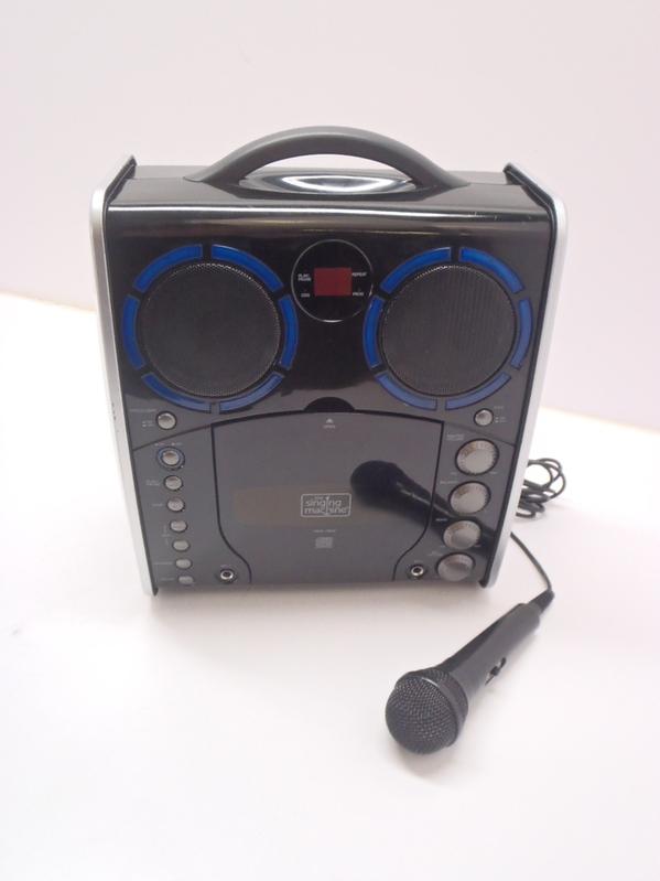singing machine sml 383 portable cdg player karaoke machine black used ebay. Black Bedroom Furniture Sets. Home Design Ideas