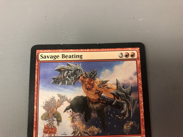 Savage Beating MTG Magic the Gathering Card X1 Darksteel EX//NM