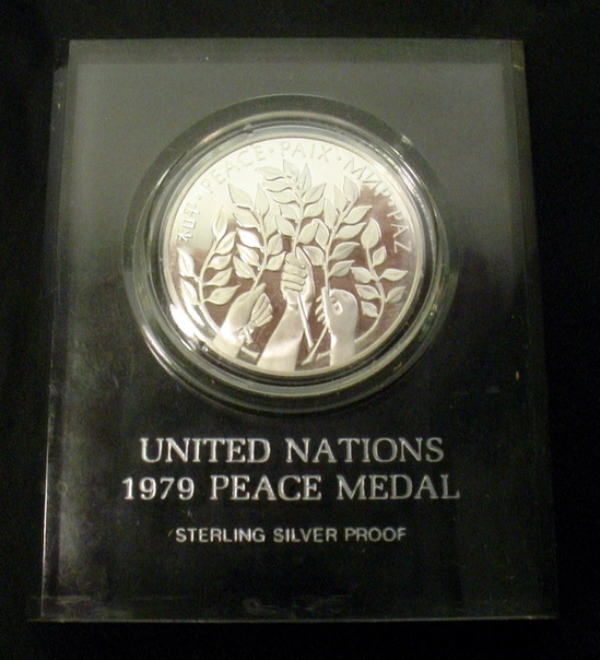 1979 United Nations Peace Medal Sterling Silver Proof Coin