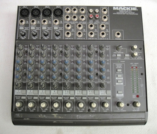 mackie 1202 vlz pro 12 channel mic line mixer mixing board w xdr mic preamps ebay. Black Bedroom Furniture Sets. Home Design Ideas