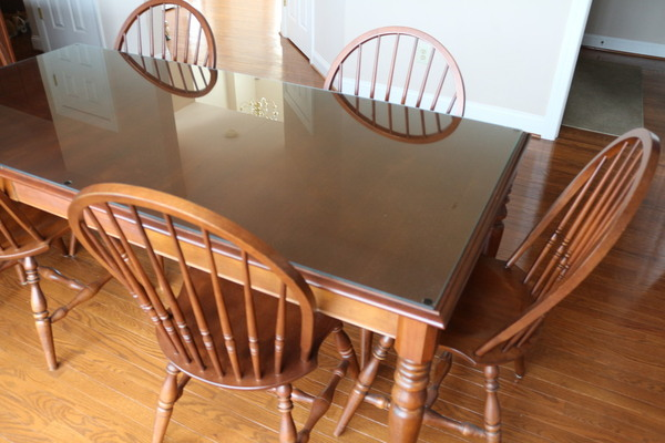 Ethan Allen Casual 7 Pc Kitchen Set Dining Room Table With