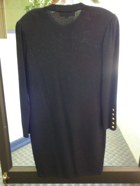 St John Collection By Marie Gray Womens Black Button Down Sweater