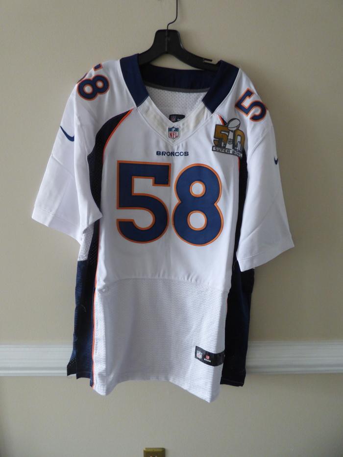 new arrival 98e21 16deb Detalles acerca de Oficial de la NFL Denver Broncos von Miller #58 Super  Bowl 50 Jersey Talla 52- mostrar título original