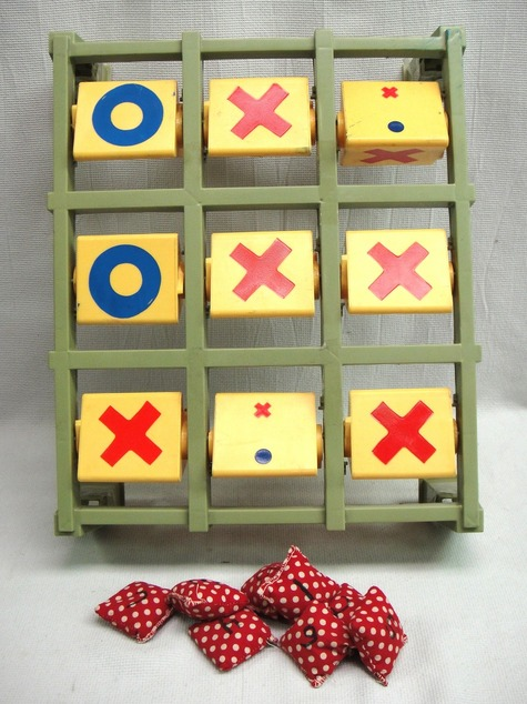 Wondrous Bean Bag Toss Tic Tac Toe Play Yards With Bassinet Onthecornerstone Fun Painted Chair Ideas Images Onthecornerstoneorg