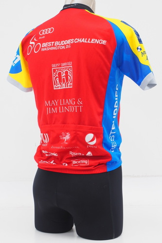 New! Pactimo Men's Cycling Jersey Size XS Best Buddies 3/4