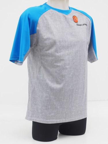 Dakine Men s Short Sleeve Charger Cycling Jersey Size Medium Blue Gray e4fa0ecba