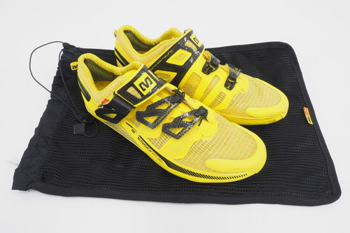 18bb11ed24 Detalles acerca de Mavic Zxellium Unisex Three Bolt Road Cycling Shoes Size  6.5 US Men s Yellow