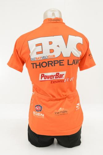 Voler Women s Short Sleeve Cycling Jersey Size Medium Orange White ... 75d048db7