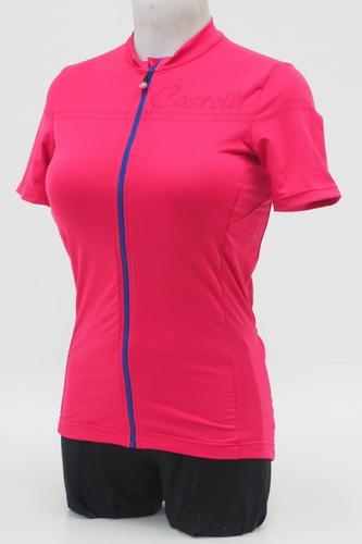 Castelli Donna Promessa 2 FZ Women s Cycling Jersey Size Small Pink Purple 312bcf7ab