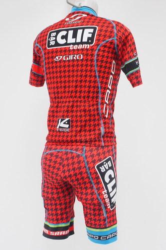 Capo Team Clif Bar Men s Short Sleeve Cycling Jersey   Short Kit Size  Medium Red bfb40fe73