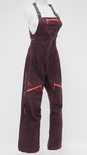 82172aea6bdf Flylow Foxy Women s Snow Bibs Purple Orange Size Small 20k 20k Waterproof