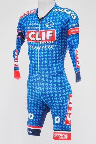 d3557c056 New! Capo Team Clif Bar Men s Long Sleeve Cycling Skinsuit Size Medium  Blue Red