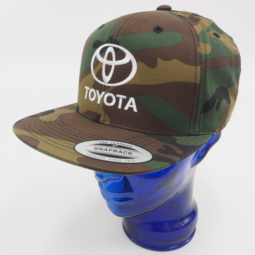 f71a3b6e Toyota Unisex Flat Brim Snapback Hat One Sits Fits Most (Camo Green/Brown)