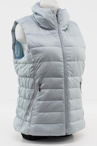 a2fd500d9 Details about Mountain Khakis Ooh La La Women's Puffy Vest Size Large Down  Fill (Silver)