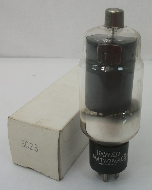 New Old Stock United National Model 3C23 Electron Tube