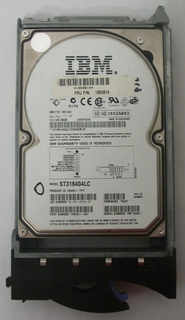 USED Seagate 18.2GB Hard Drive IBM Model ST318404LC w/ Caddie
