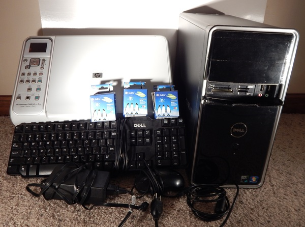 Gently Used Dell Inspiron 546 and HP Photosmart C4180 Printer Combo