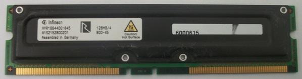 INFINEON RDRAM 128MB PC800-45 RAMBUS MEMORY HYR1812840G-845