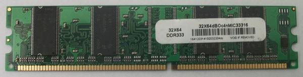 1 x B6U602 Elite Systems DO2DR500 32X64 DDR 333 RAM
