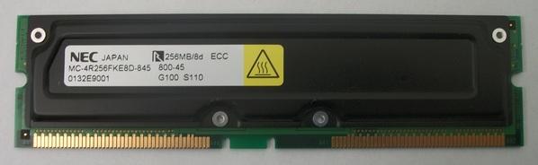 NEC RAMBUS RDRAM 256MB/8D/800-45 ECC MC-4R256FKE8D-845