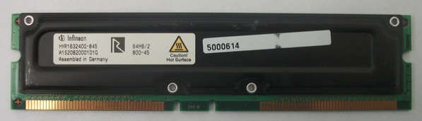 INFINEON HYR163240G-845 64MB RIMM DIMM Module