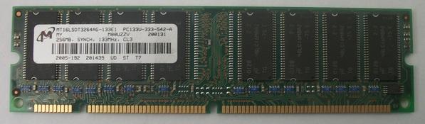 MICRON / MT16LSDT3264AG-133E1 PC133U-333-542-A 256MB SYNCH 133MHz CL3 Module