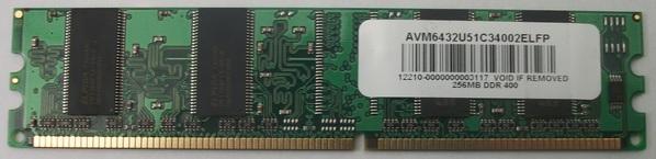 1 x Elpida 256mb DDR400 Ram Module AVM6432u51C34002ELFP