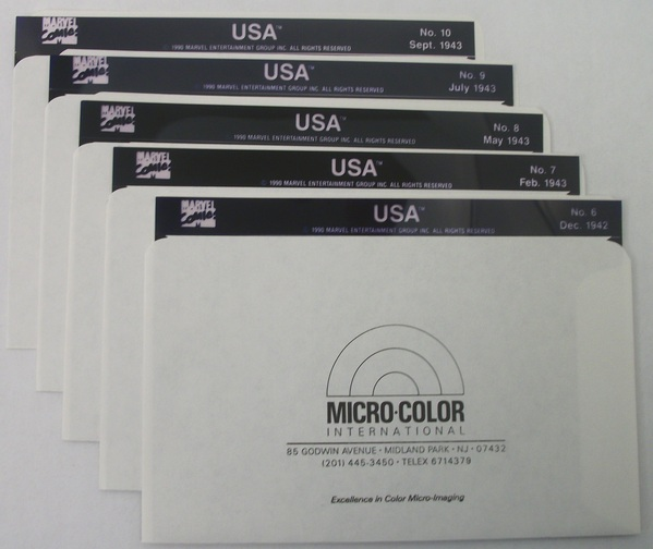 Micro-Color Marvel's USA - Issues 6 - 10 on Microfiche - 040MV
