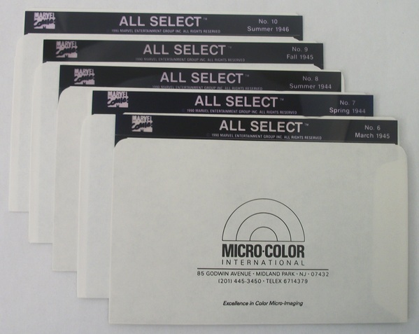 Micro-Color Marvel's All Select - Issues 6 - 10 on Microfiche - 002MV